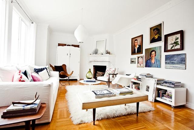 salon industriel et scandinave id e salon design scandinave blancblueberry home - Salon Scandinave Vintage