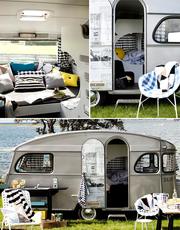 une caravane deux styles. Black Bedroom Furniture Sets. Home Design Ideas
