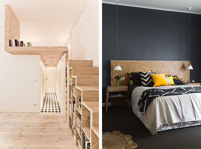 materiau tendance zoom sur le bois osb blueberry home. Black Bedroom Furniture Sets. Home Design Ideas