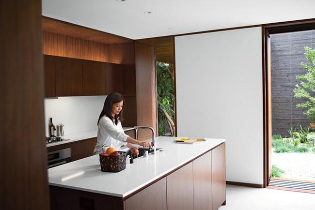 Cuisine moderne dans un bungalow