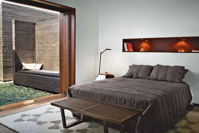 chambre moderne dans un bungalow