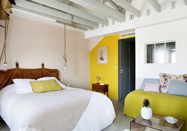hotel-henriette murs pastel