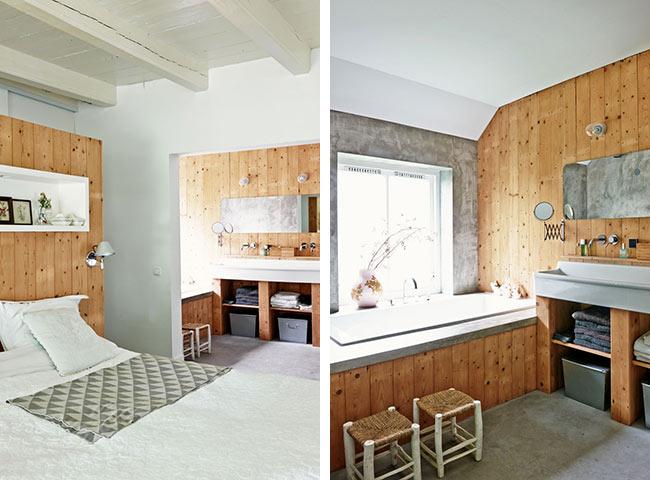 salle de bain lambris